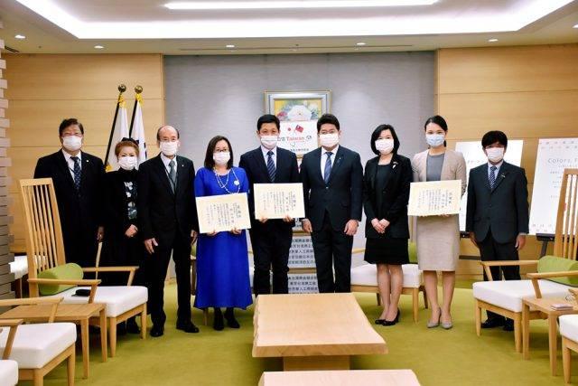 世華日本分會捐贈防疫物資 助川崎市對抗疫情