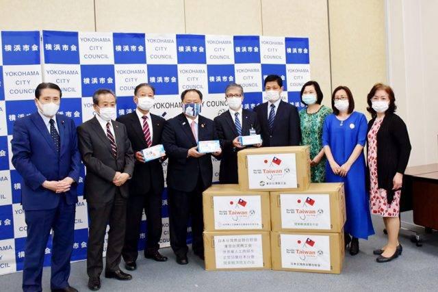世華日本分會捐贈口罩抗疫 橫濱副市長出席接受
