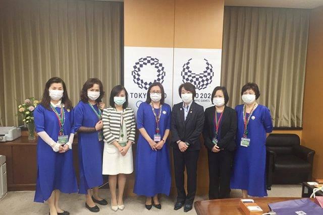世華日本分會拜訪奧運大臣 感謝從中協助順利捐贈防疫物資